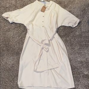 MING SUIT button up dress with tie
